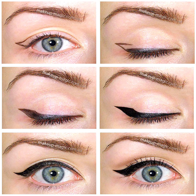 How to Make Cat Eyes With Eyeliner (with Pictures) - wikiHow |Makeup Eyeliner Cat Eyes