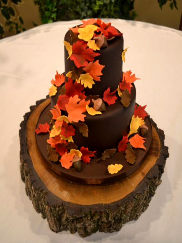 Fall Wedding Cakes Pictures Of Autumn Wedding Cakes 2017