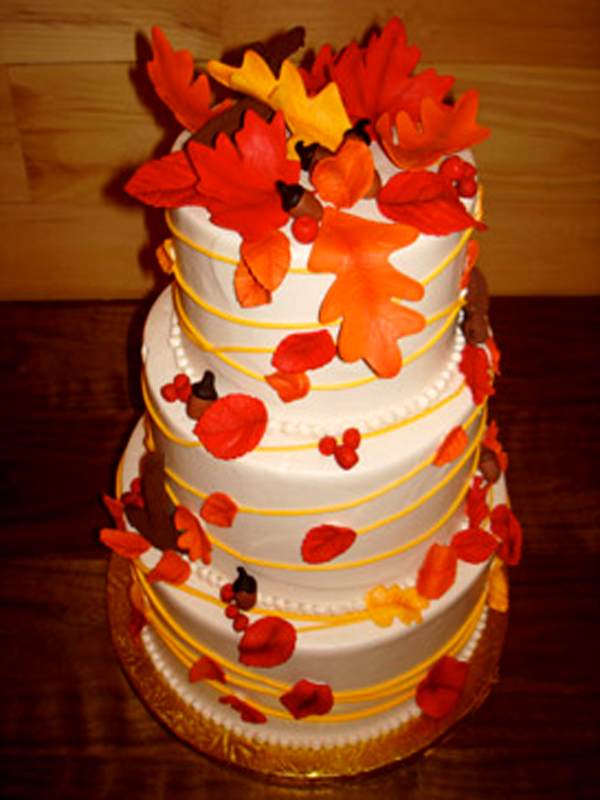 Fall Wedding Cakes | Pictures of Autumn Wedding Cakes 2017