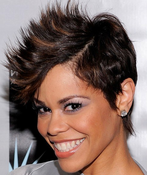 Short Spiky Haircuts And Hairstyles For Women 2017 Very Short Asymmetrical With Bangs