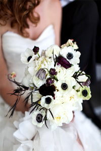Black and White Wedding Bouquets