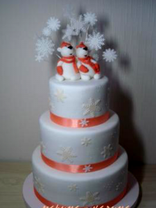 Winter wedding cakes