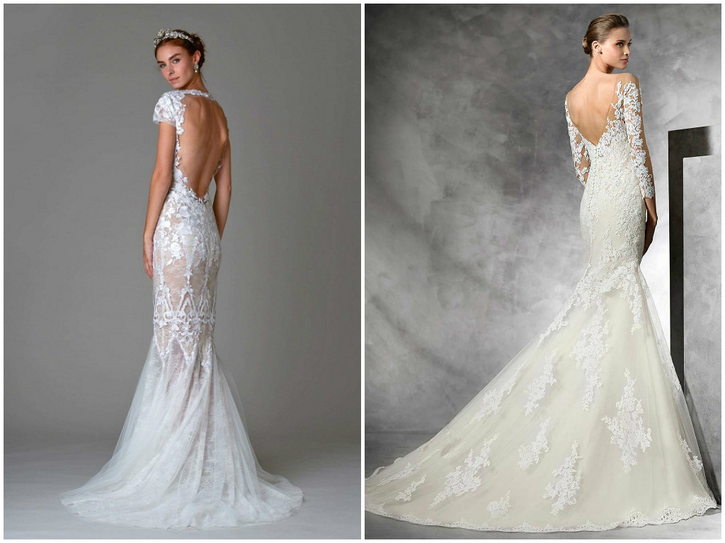 Lace Open Back Wedding Dress 2017