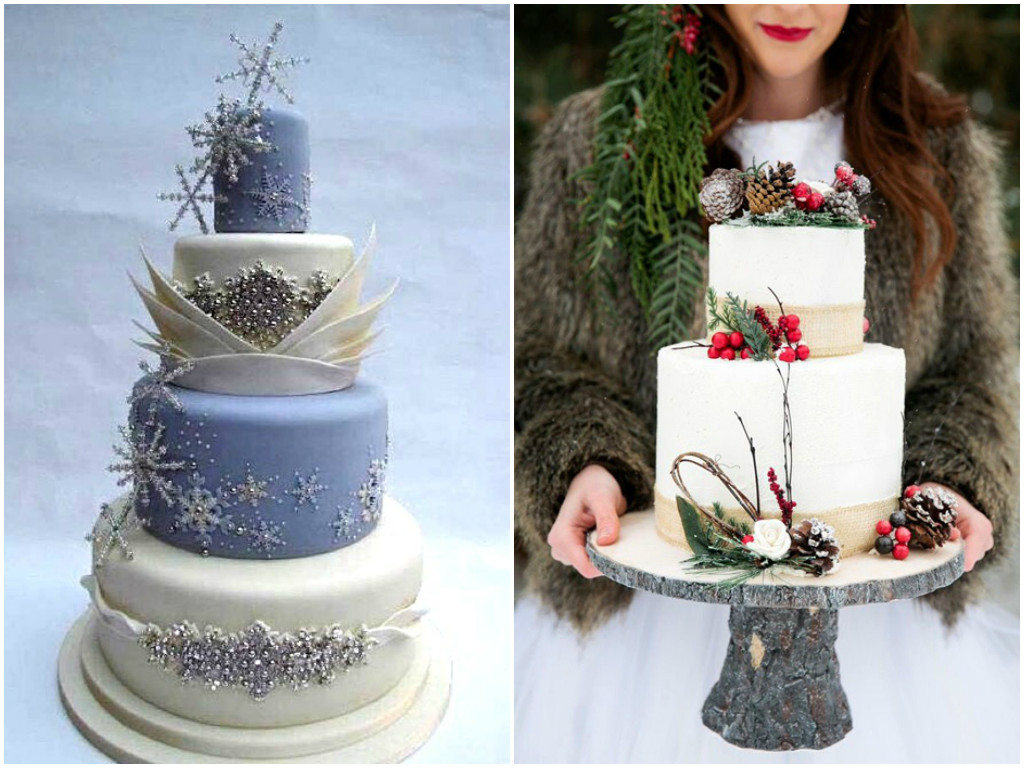 Winter Wedding Cake Ideas 2017