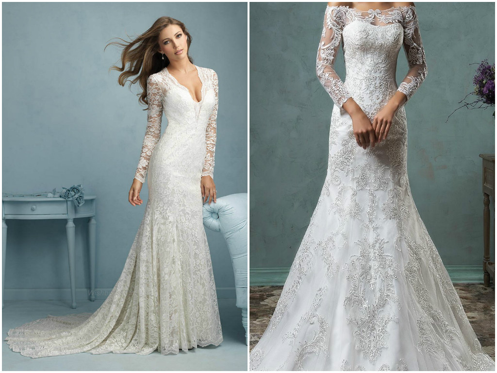 Long sleeve lace wedding dress | Bridal dresses with long sleeves