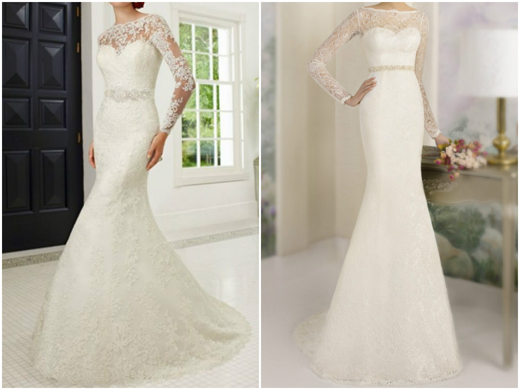 Long sleeve lace wedding dress   Bridal dresses with long sleeves