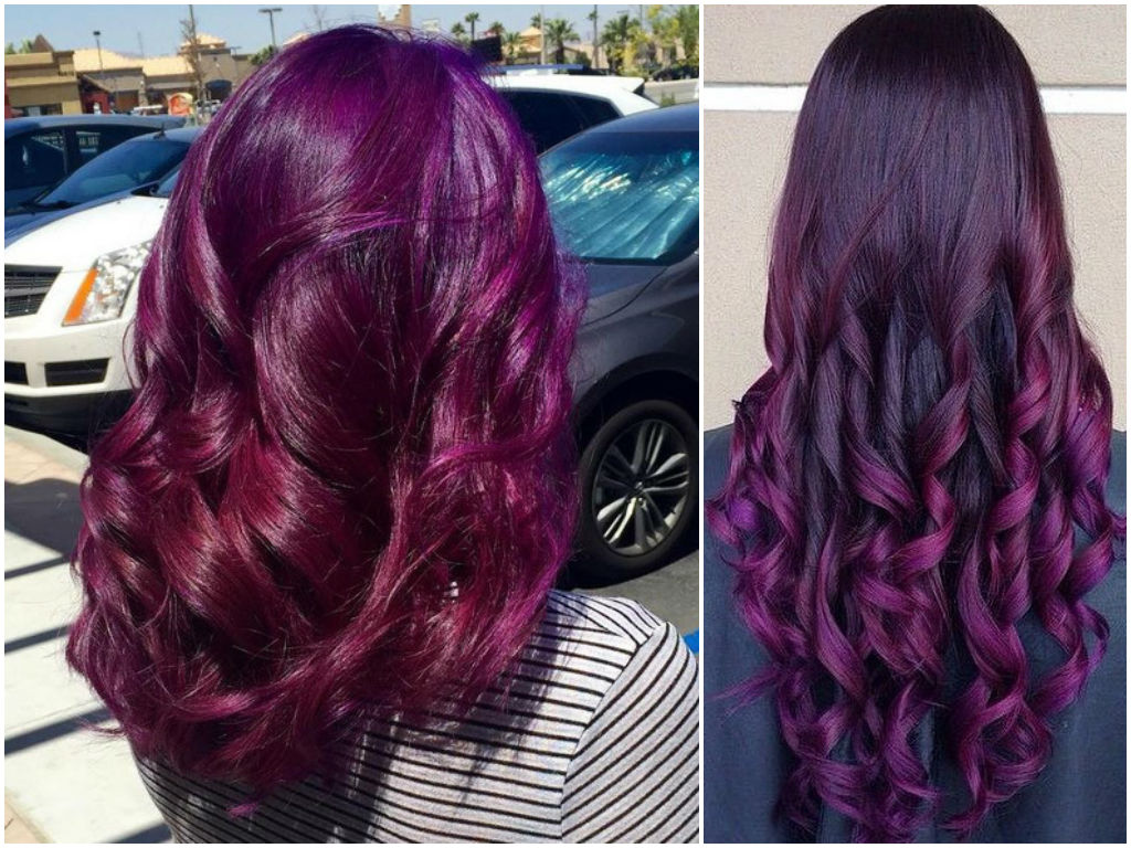 Burgundy Hair Color Ideas | Maroon, Deep, Purple, Plum Burgundy, Dark ...