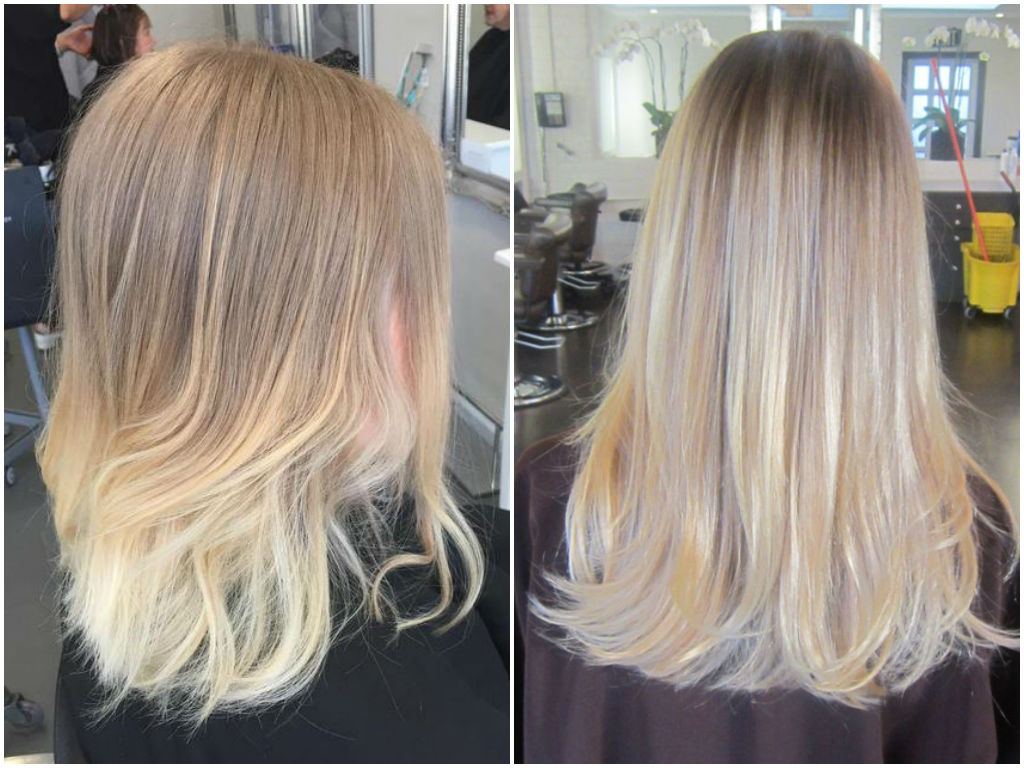 Bright Blonde Balayage Straight Hair Www Pixshark Com