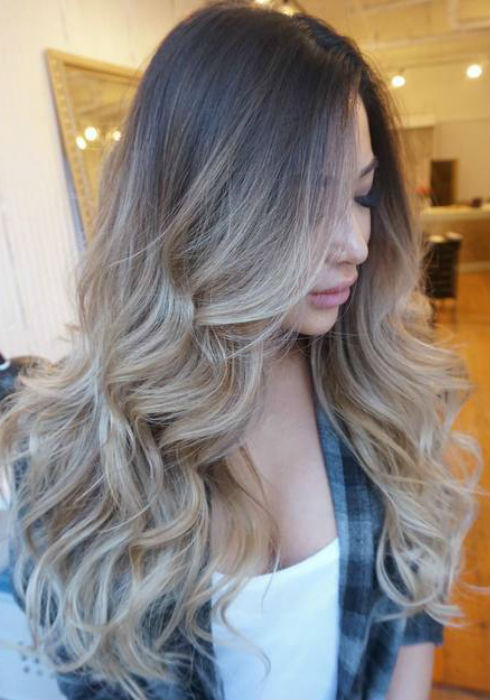 ash blonde balayage and silver ombre hair color ideas 2017. Black Bedroom Furniture Sets. Home Design Ideas
