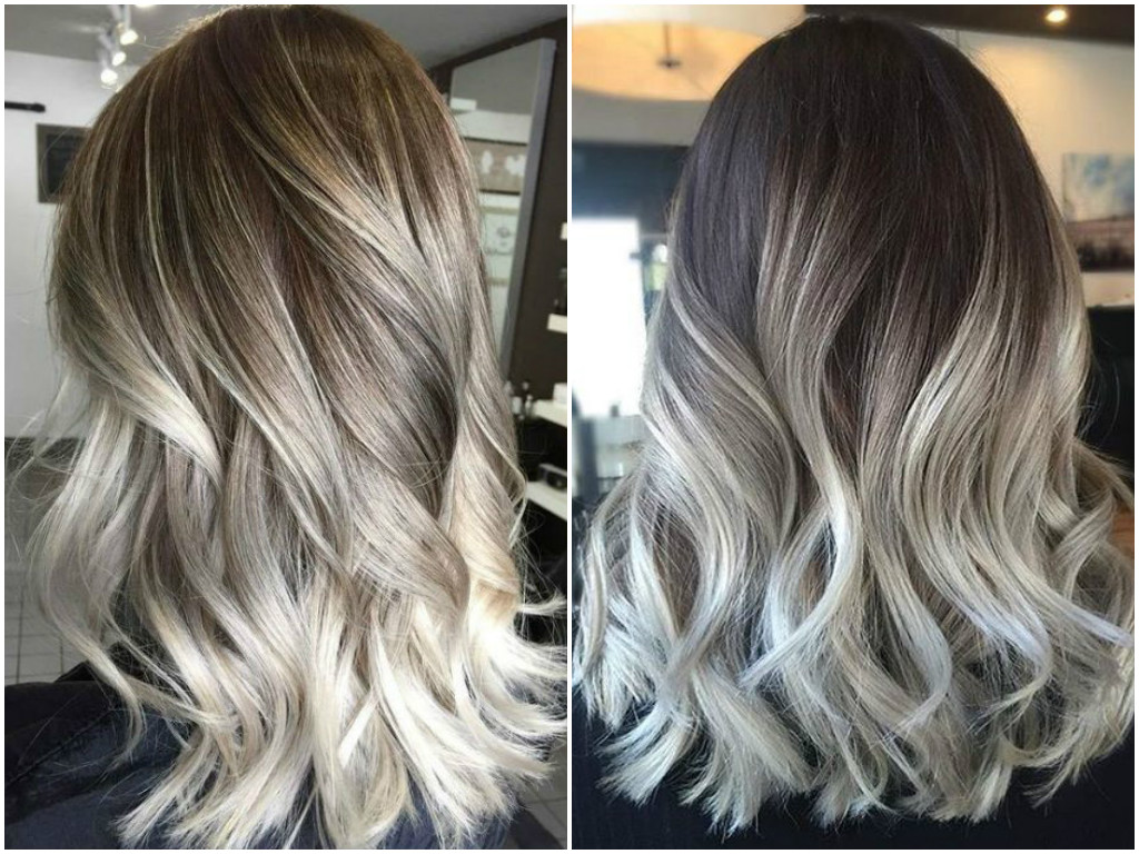 Ash Gray Highlights  Dark Brown Hairs