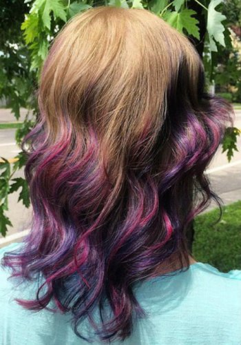 Hairstyles with Purple, Lavender, Lilac, Violet Highlights