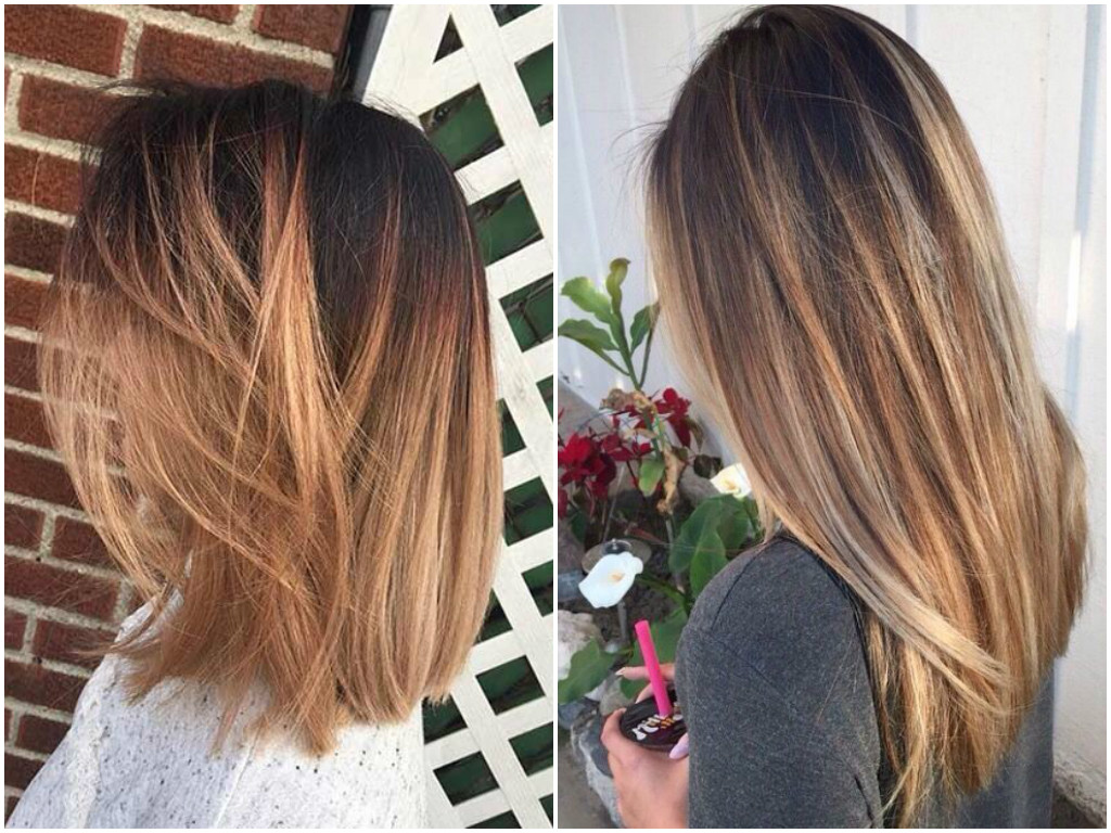 Balayage On Straight Hair Short Medium Length Long