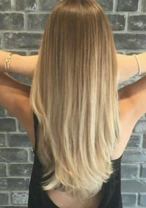 Balayage hair color shoulder length