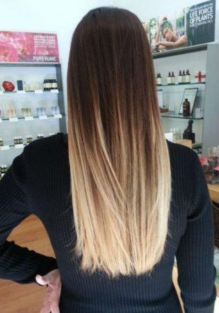 Balayage on straight hair