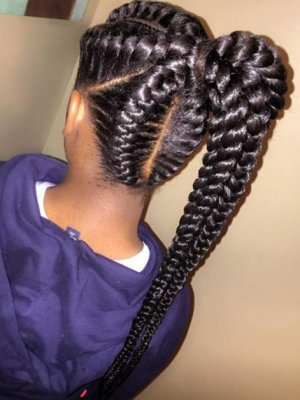 Black Braided Hairstyles 2017 – Big, Small, African, 2 and 4 Cornrows