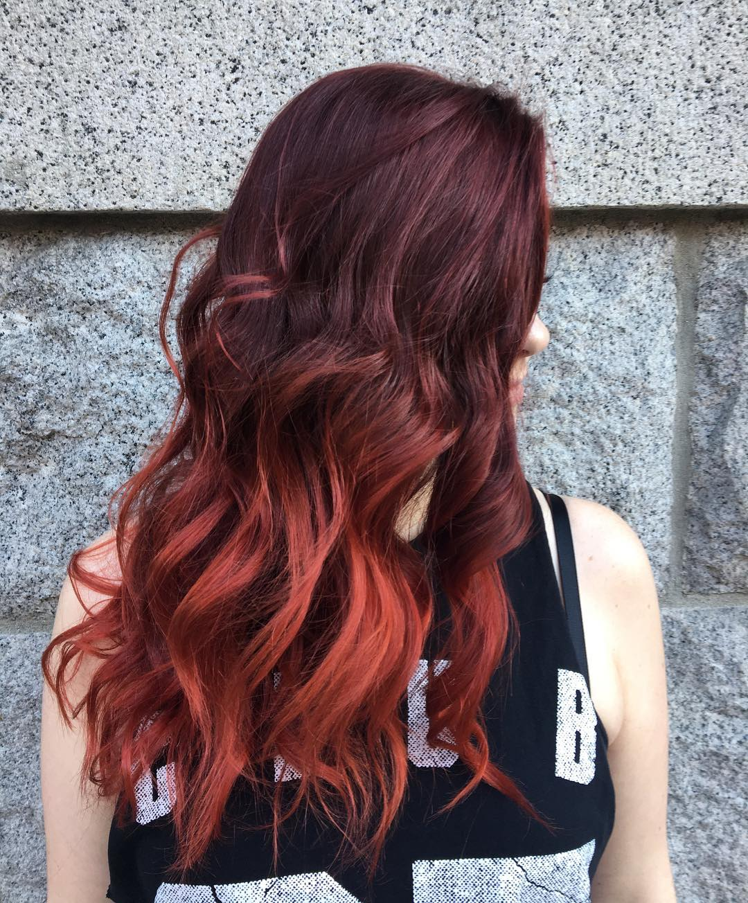 red ombre hair color 36 new stunning ideas. Black Bedroom Furniture Sets. Home Design Ideas