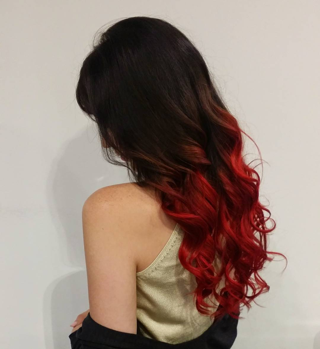 dress - Ombre to red Black hair video