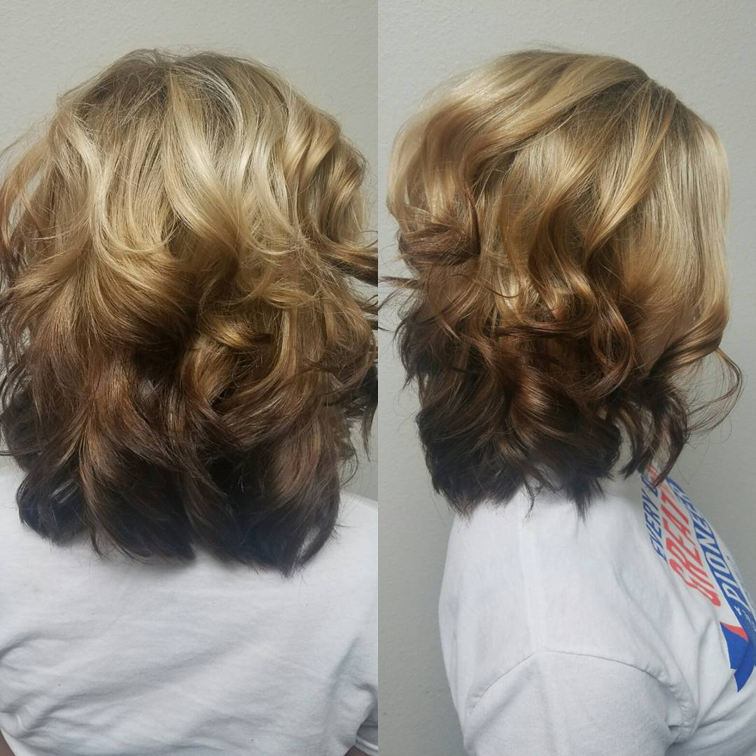 the gallery for gt ombre hair brown to blue