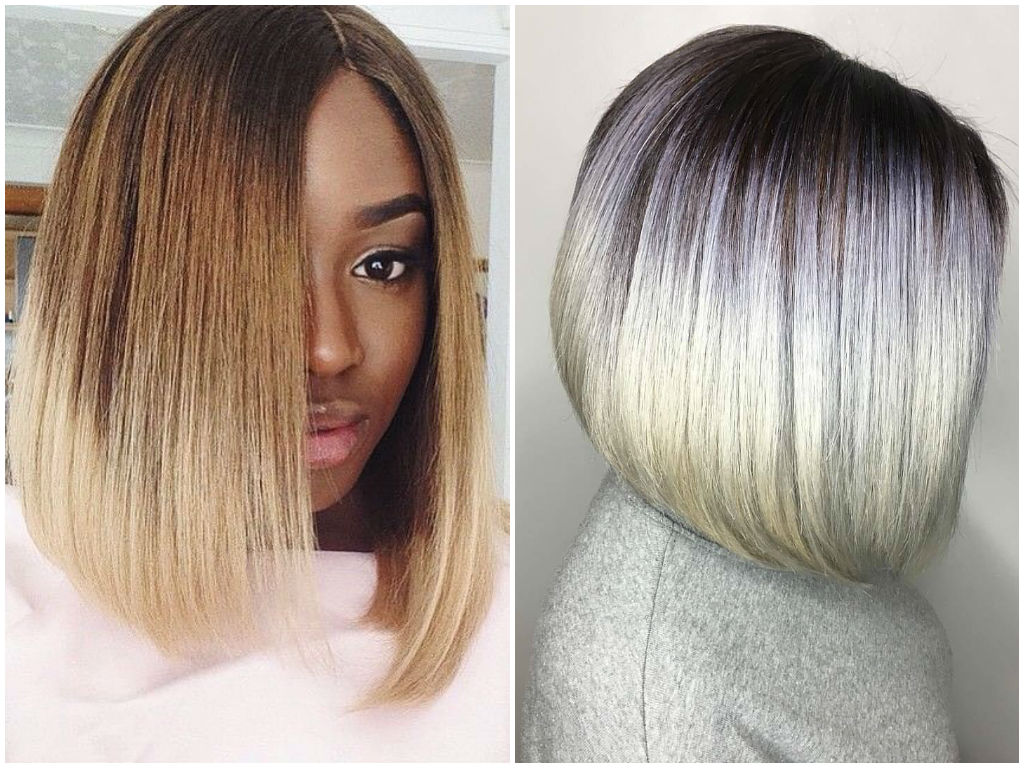 Bob haircut with ombre