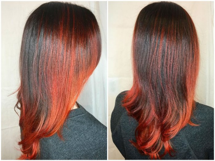 Red Ombre Hair Color Ideas