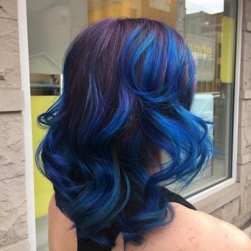 Blue Ombre Hair Color