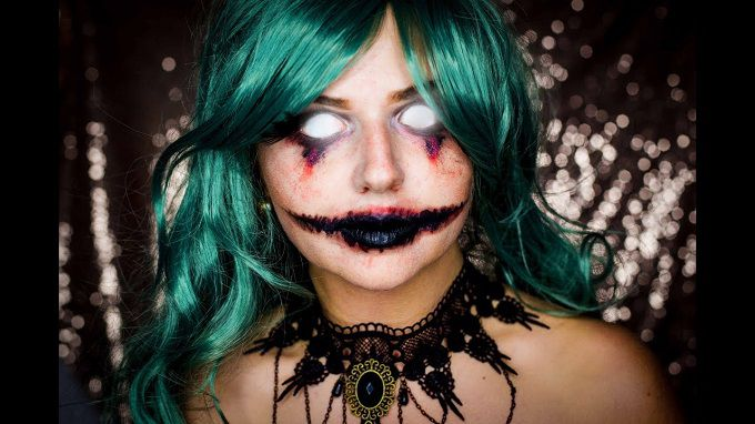 Makeup for Halloween: do it yourself. Simple Tips for creating a bright make-up