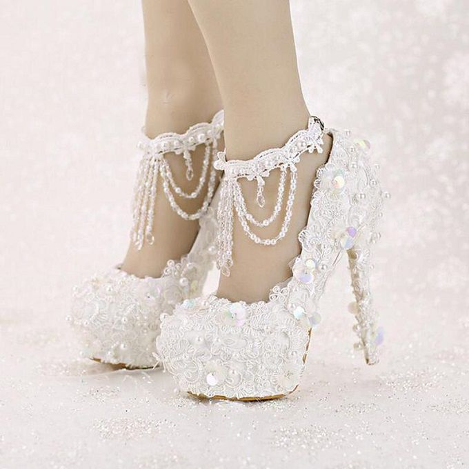 Fascinating Silver Wedding Shoes For The Bride