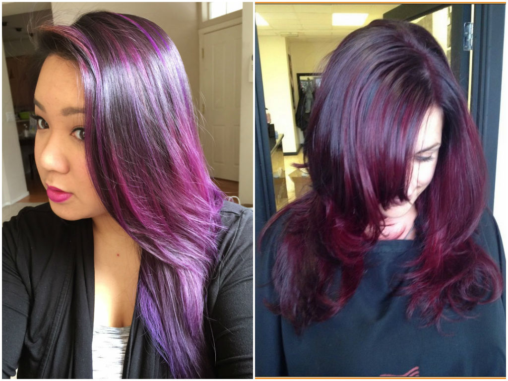 60 Burgundy Hair Color Ideas Maroon Deep Purple Plum Burgundy Dark Red