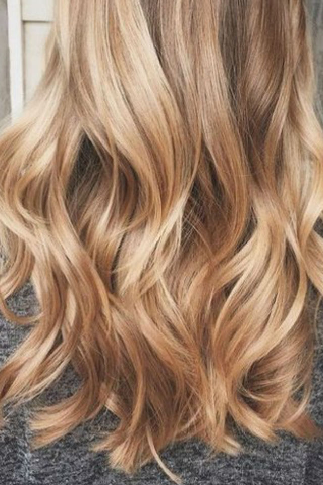36 blonde balayage hair color ideas with caramel honey for Caramel blond
