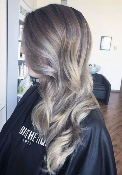 Black and gray ombre hair